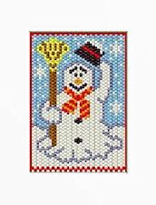 FROSTY SNOWMAN BEADED BANNER PDF PATTERN ONLY