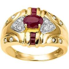.95ctw  NATURAL DIAMOND & RUBY RING, BEAUTIFUL RUBIES, PRINCESS & OVAL Size 7
