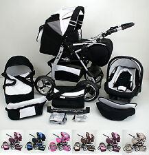 Combi-poussette Buggy Pram VIP + Nacelle bébé + extras en 20 couleurs