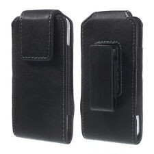 L-360' VERTICAL PREMIUM LEATHER SWIVEL CASE+BELT CLIP FOR SAMSUNG GALAXY S5 G900