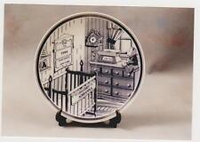 Personalized Keepsake Baby Plate   Crib scene with babys info on china plate