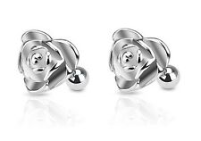 2 lot PAIR of HEART Shape ROSE Tragus CARTILAGE Stud Rings Body Piercing Jewelry