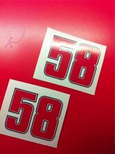 2 Adesivi Stickers SIMONCELLI 58 Replica 45 x 35 mm