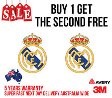 2 x REAL MADRID F.C.Sticker one of the best team in the world logo 110mm high