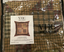 New Vhc Canavar Ridge Cotton Euro Pillow Sham 26x26 Multi Color Plaid