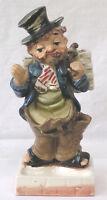 Vintage Figural Ceramic Hobo Men's Dresser Valet Caddy Made in Japan  MAN CAVE