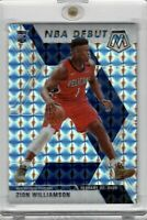 2019 PANINI MOSAIC #269 ZION WILLIAMSON ROOKIE DEBUT REACTIVE SILVER PRIZM SSP