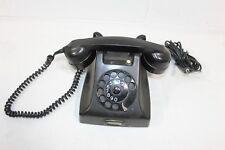 Vintage 50s Ericsson Holland PTT Rotary Dial Black Desk Phone Bakelite UNTESTED