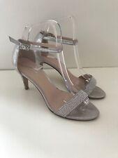 Carvela Kurt Geiger Silver Strappy Heel Shoes, Diamanté Sparkly, Party UK 4 37