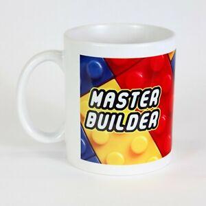 """Master Builder"" Brick Pattern Tea Coffee Mug Gift"