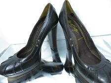 MISS SIXTY chocolate brown leather high heel court shoes  UK 5 EU 38