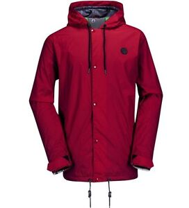 VOLCOM Men's QUITTER Light Snow Jacket - Red - Size XSmall - NWT