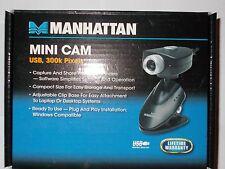 Manhattan Mini Cam USB 300K pixels Webcam (Conrad) OVP Treiber CD