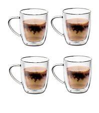 4 Pack Double Wall 20 Oz. 560 ml.Glass Coffee Tea Latte Mug