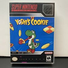 AUTHENTIC SNES YOSHI'S COOKIE CARTRIDGE VIDEO GAME-Tested+Plastic Retail Case