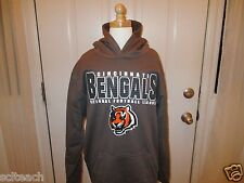 New with Tags Youth Cincinnati Bengals Pullover Long Sleeve Hooded Sweatshirt
