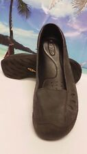 KEEN Women's Water Resistant Gray Leather Grip Work Shoe US 6.5 EU 37