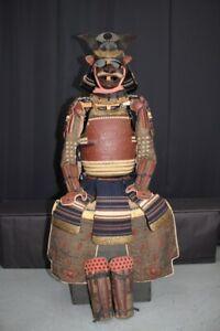 (BA-26) Beautiful 62KEN SUJI KABUTO YOROI set Guarantee Edo age