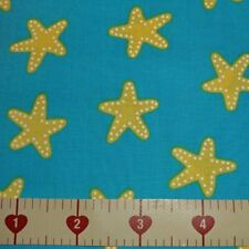 Pacific Sun & Sea AAK-16278-60 Starfish Cotton Quilt Fabric BTY R Kaufman