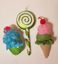 Cupcake, Ice Cream Cone, Lollipop Hanger/Ornaments. Party Decorations, Christmas