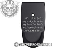 for Smith Wesson SHIELD 9mm 40 Grip Extension Mag Plate BK Bible Psalm 144:1