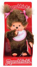 MONCHHICHI GIRL Sekiguchi Pink Bib Monchichi plush monkey - SALE!