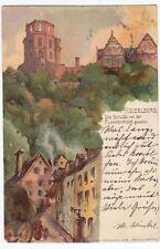Normalformat Ansichtskarten aus Baden-Württemberg mit dem Thema Burg & Schloss
