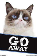 GRUMPY CAT - GO AWAY POSTER - 22x34 CUTE FUNNY 14303