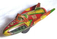 "RARE VINTAGE TIN PLATE KAKA ""SUPER ROCKET"" SPACE SHIP TOY C1950S/60S FRICTION"