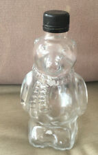Polar Bear Grizzly Bottle Figural Clear Glass Best by 08/25/18-1321 Lid Honey