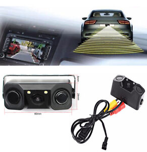 1 Set Auto Car Reverse Backup Parking Radar Rear View Camera With Parking Sensor