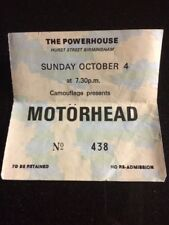 Motorhead The Powerhouse Concert Ticket Stub Rare From The 80s