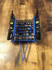 1/64 Custom Blue 30 Ft Soil Finisher With Harrow Farm Toy