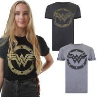DC Comics - Wonder Women - Metallic Logo - Ladies - T-shirts