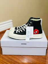 Converse Comme Des Garcons CDG Chuck Taylor High Black Red Heart