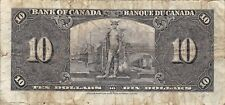 Canada  $10   2.1.1937  P 61b   Kg. G. VI  Series  R/D  Circulated Banknote C2