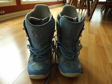 Ladies Womens 8 BURTON Freestyle BONE OUT Baby Blue Snow Board Snowboard Boots