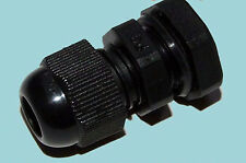 CABLE ENTRY DOME TOP GLAND 5-10mm NYLON M16. IP68 NEOPRENE SEAL BLACK suit solar