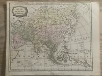 1806 ASIA HAND COLOURED ORIGINAL ANTIQUE MAP 214 YEARS OLD