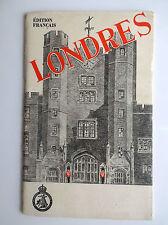 Ancien Guide Touristique Londres 1949 Version Française