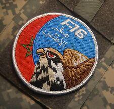 F-16 FIGHTING FALCON SWIRL INSIGNIA: Morocco Air Force RMAF Swirl νeΙcrο Patch