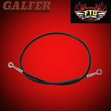 "Brake Line 36"" long Black for Extended Swingarms or Swingarm Extensions"