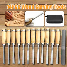 Pro 14PCS Wood Carving Hand Chisel Tool Woodworking Kit Set Handy Carry Case