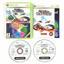 Lote juego Burnout Paradise The Ultimate Box + Trivial Pursuit En Xbox 360