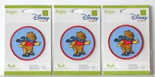 WRIGHTS DISNEY HOME WINNIE THE POOH SELF-ADHESIVE PATCHES - LOT OF 3 - NIP!