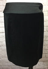 Behnaz Sarafpour Target Pencil Skirt SZ 9 Short Straight Black Velvet  #7372