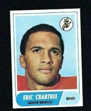 NM 1968 Topps Football #95 Eric Crabtree RC.