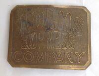 Vintage Adams Express Brass Belt Buckle
