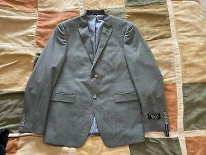 Original Penguin micro grid pattern grey stretch blazer sport coat 40 R mens NEW