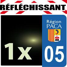 DEPARTEMENT 05 rétro-réfléchissant Plaque Auto 1 sticker autocollant reflectif